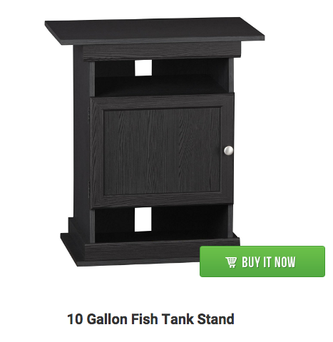 10 gallon fish tank stand