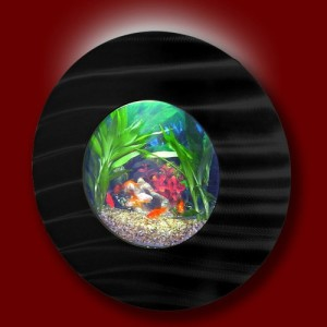fish wall bubble